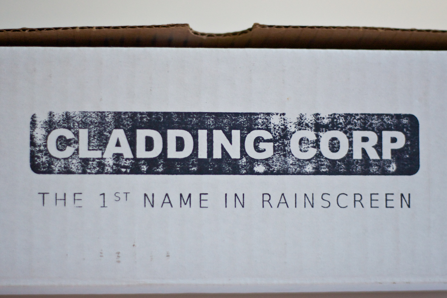 Cladding Corp Sample Box Stamp © Barrett Morgan Design LLC