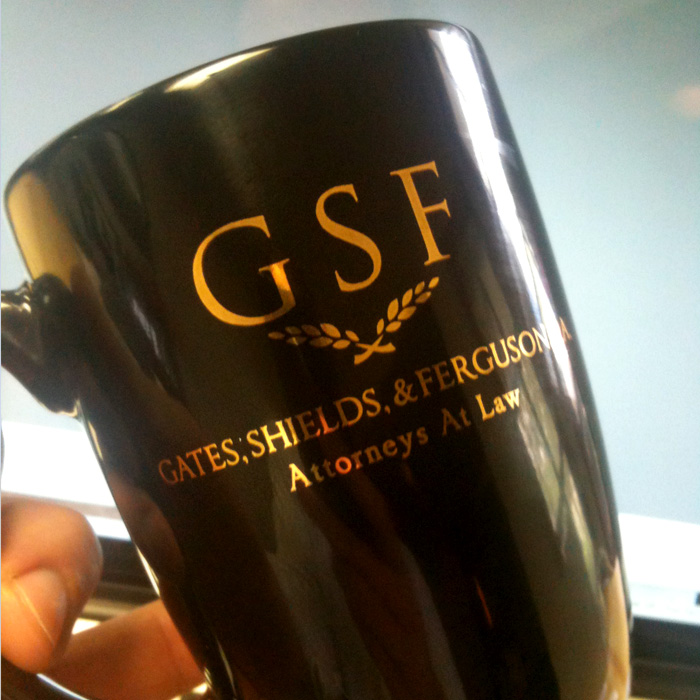Mug Print, Logo Development, Gates, Shields, & Ferguson, P.A.