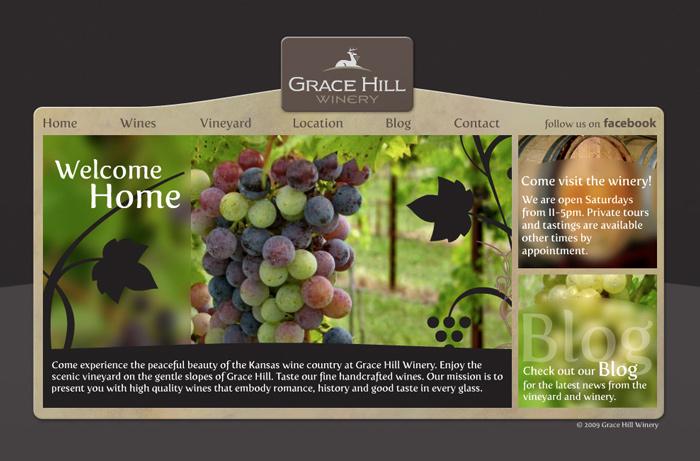 Grace Hill Winery Website Barrett Morgan Design Llc