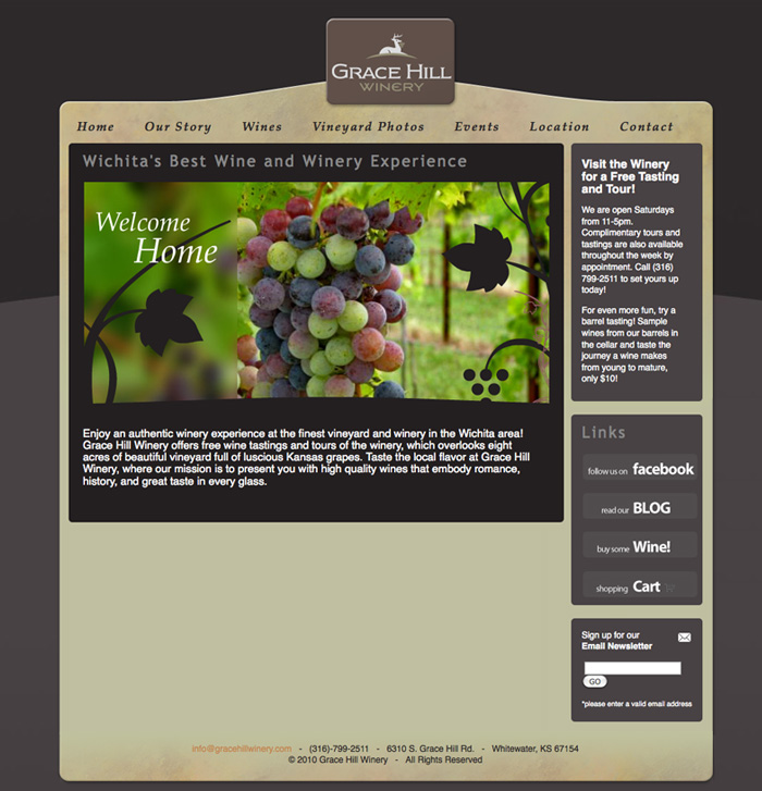 Grace Hill Winery Website © Barrett Morgan Design LLC