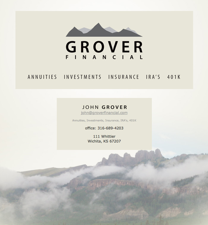 Grover Financial Website Sample