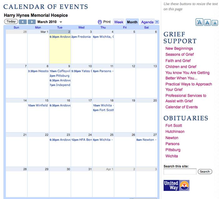 Harry Hynes CMS Calendar