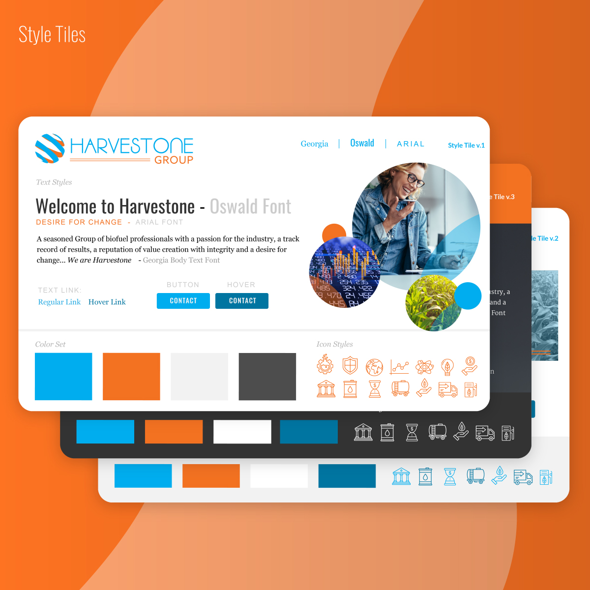 Harvestone Group LLC Style Tile website design