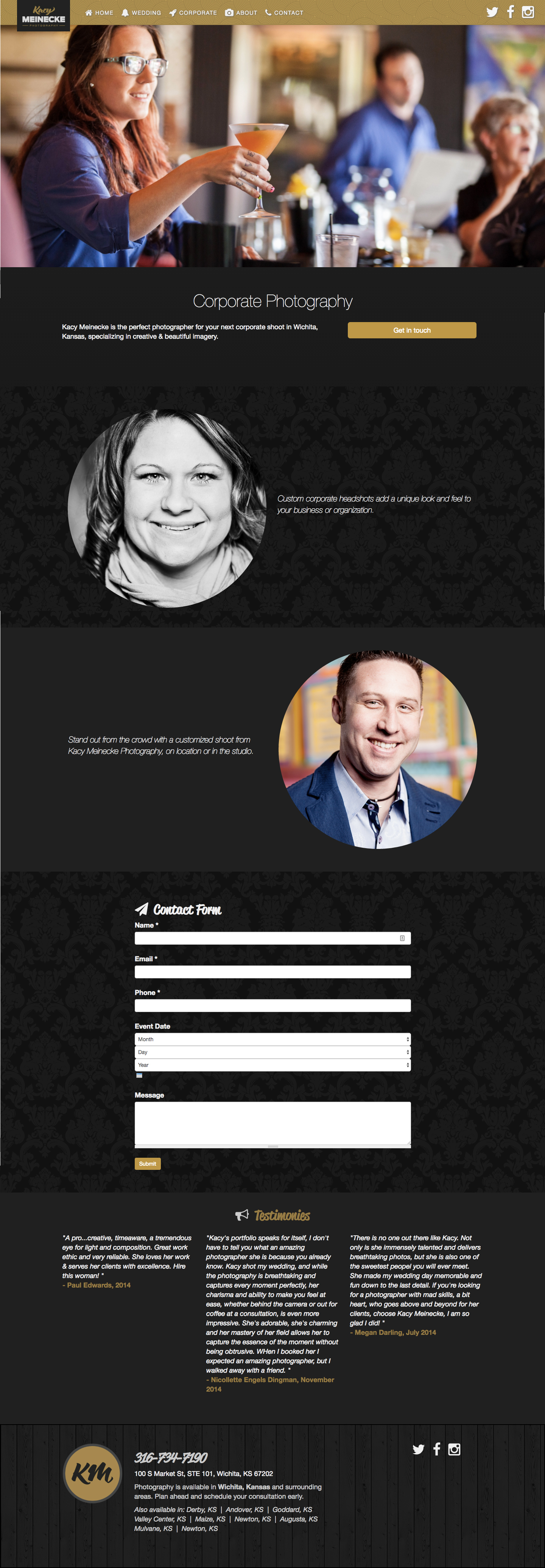 Kacy Meinecke Website Design and Development One Pager