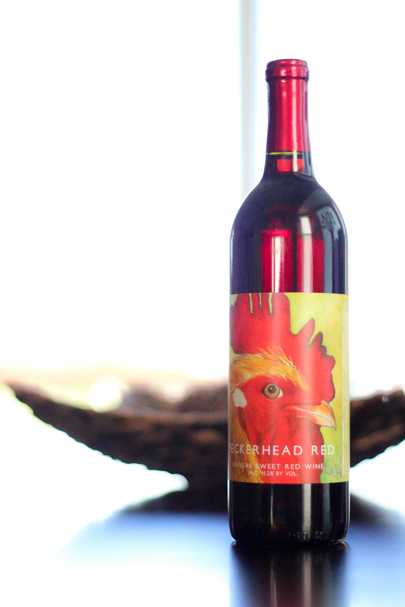Wine bottle label design in Whitewater Kansas