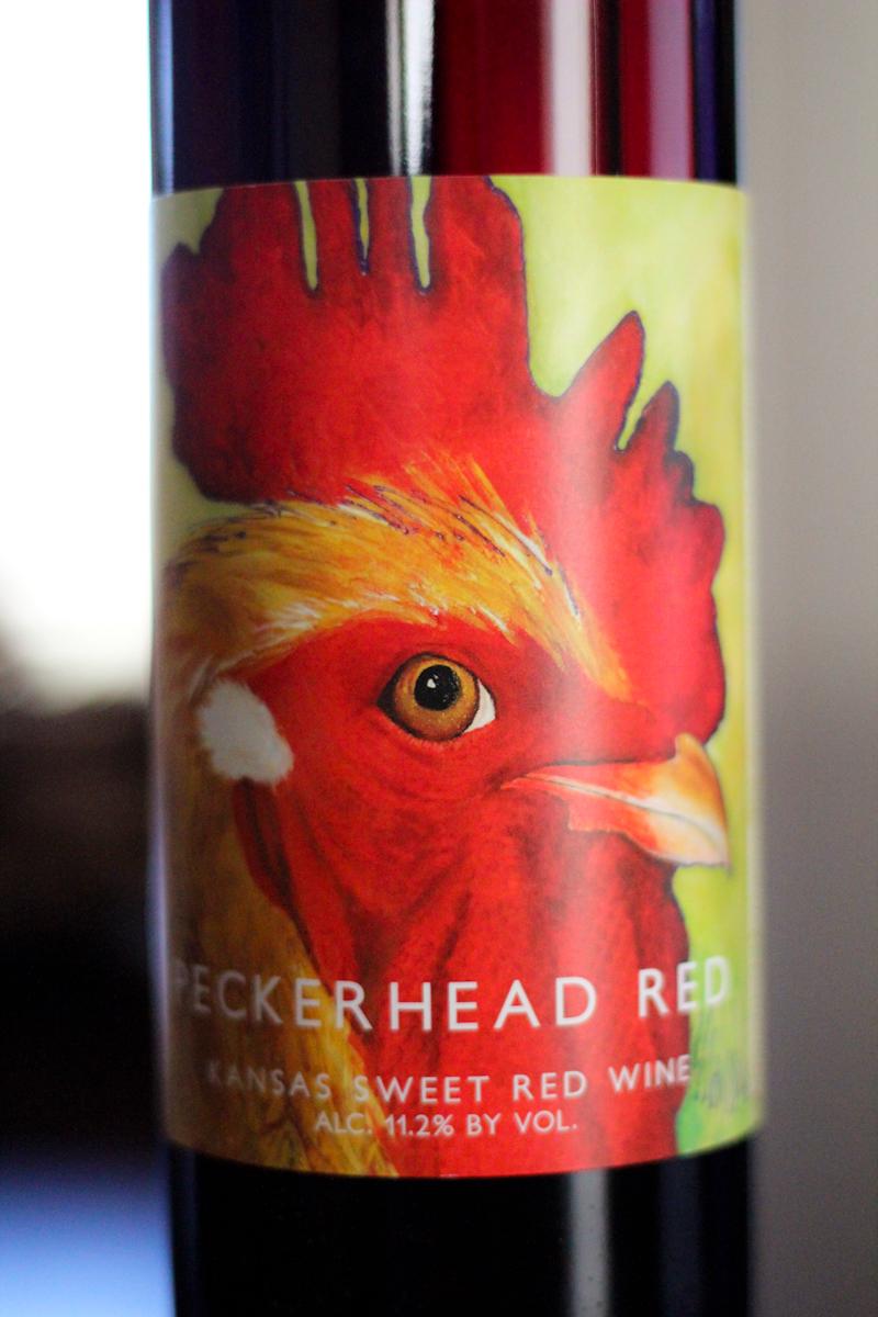 Peckerhead Red bottle label
