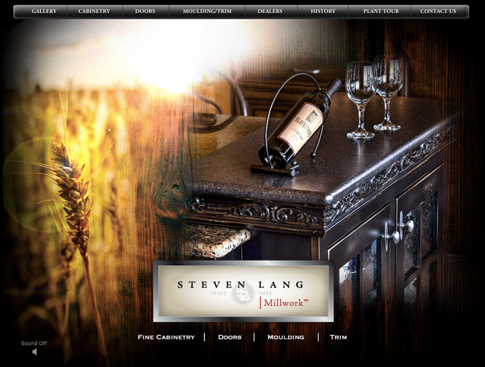 Homepage Design for Steven Lang Millwork