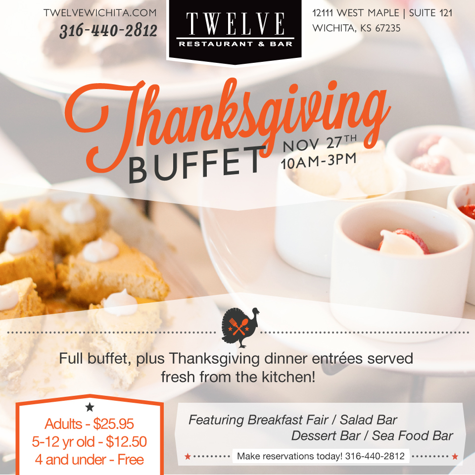 Twelve Restaurant Thanksgiving Promotion