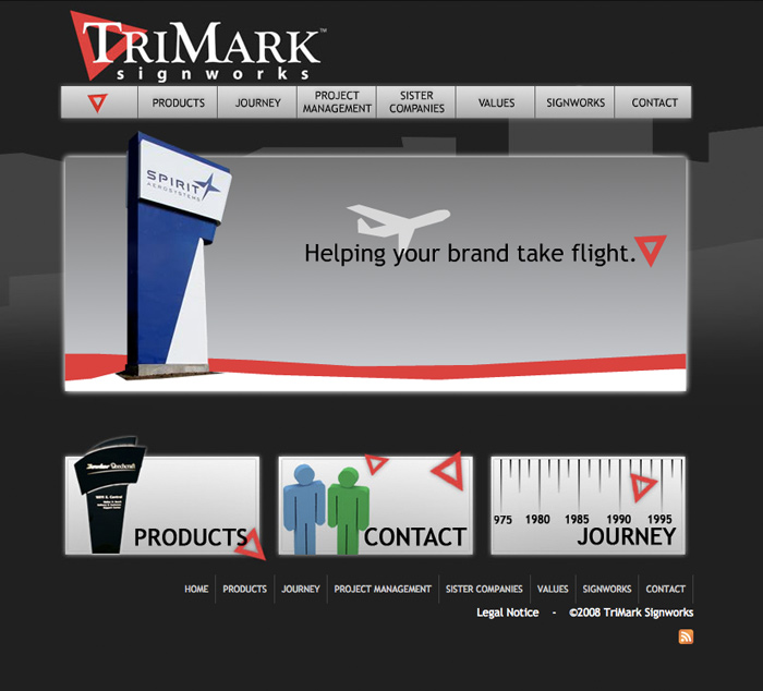 Trimark Signworks Web Design and Development - Flash Homepage