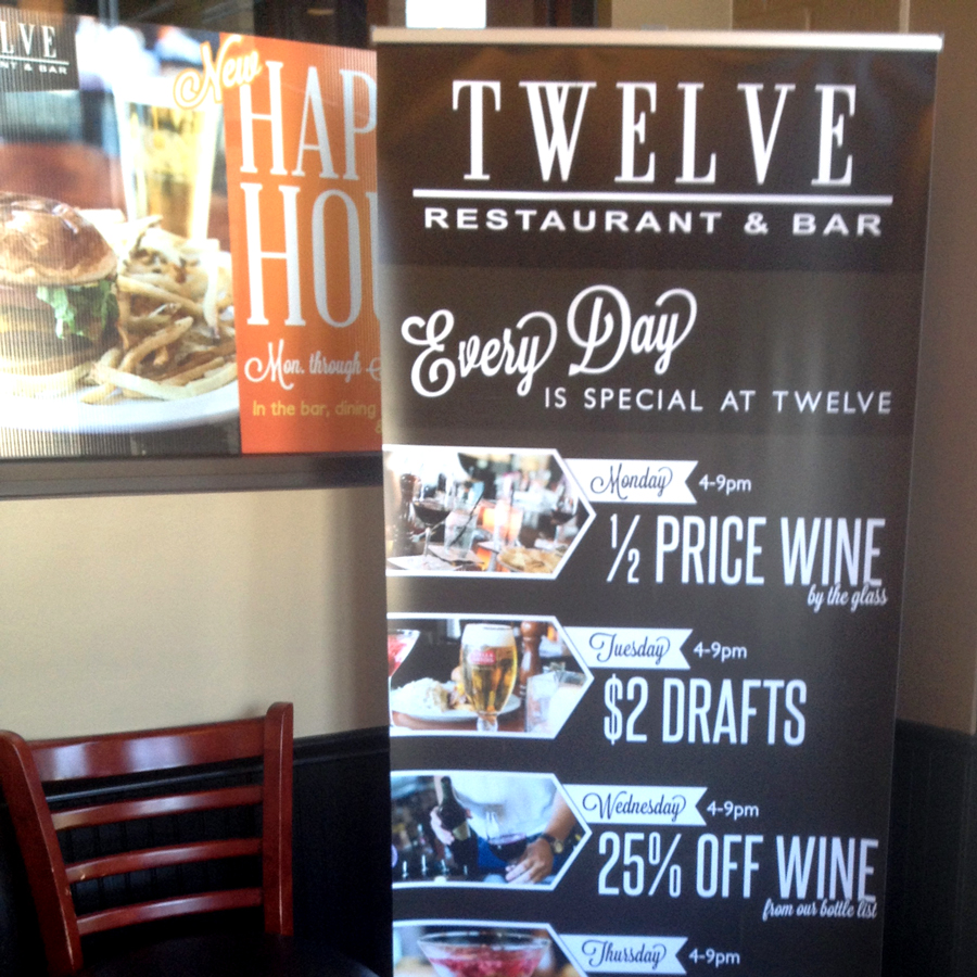 Twelve Restaurant Daily Specials Promotion