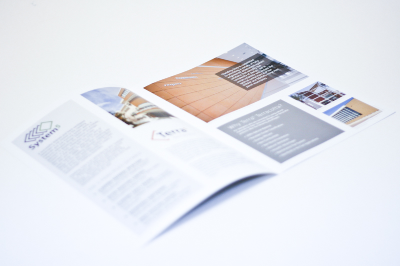 First page spread of Terra5 brochure