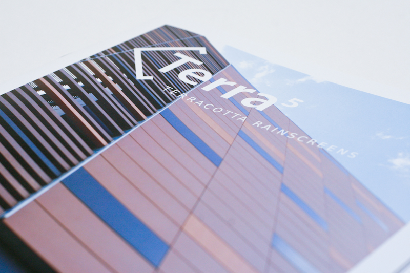 Front cover close up of Terra5 brochure