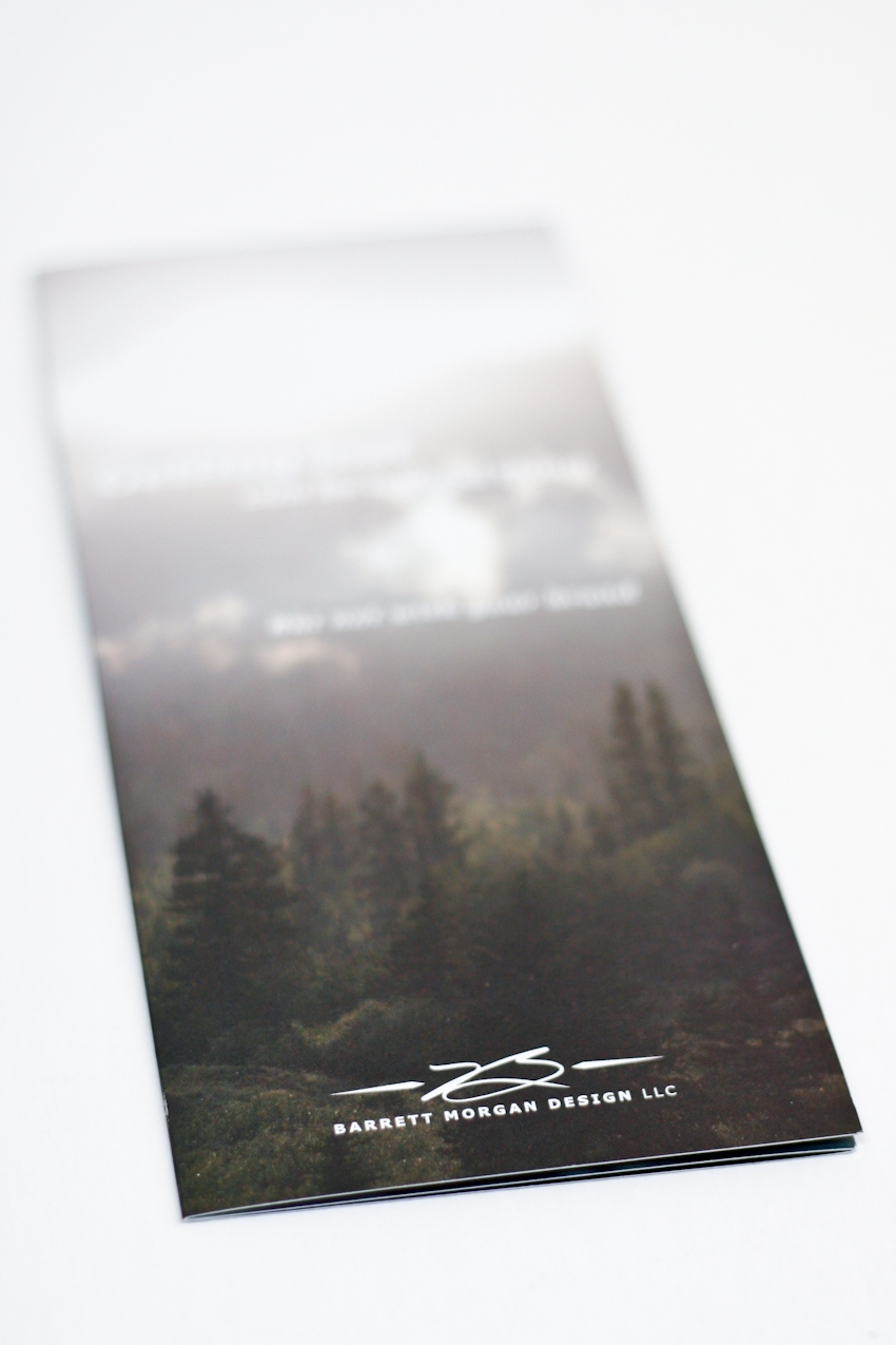 Barrett Morgan Design LLC Brochure Front
