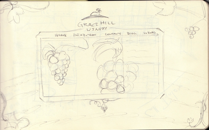 Barrett Morgan's Sketch Book - Grace Hill Winery