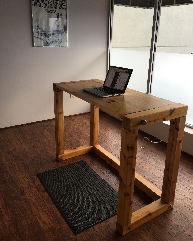 Barrett Morgan Design Office with standing desk