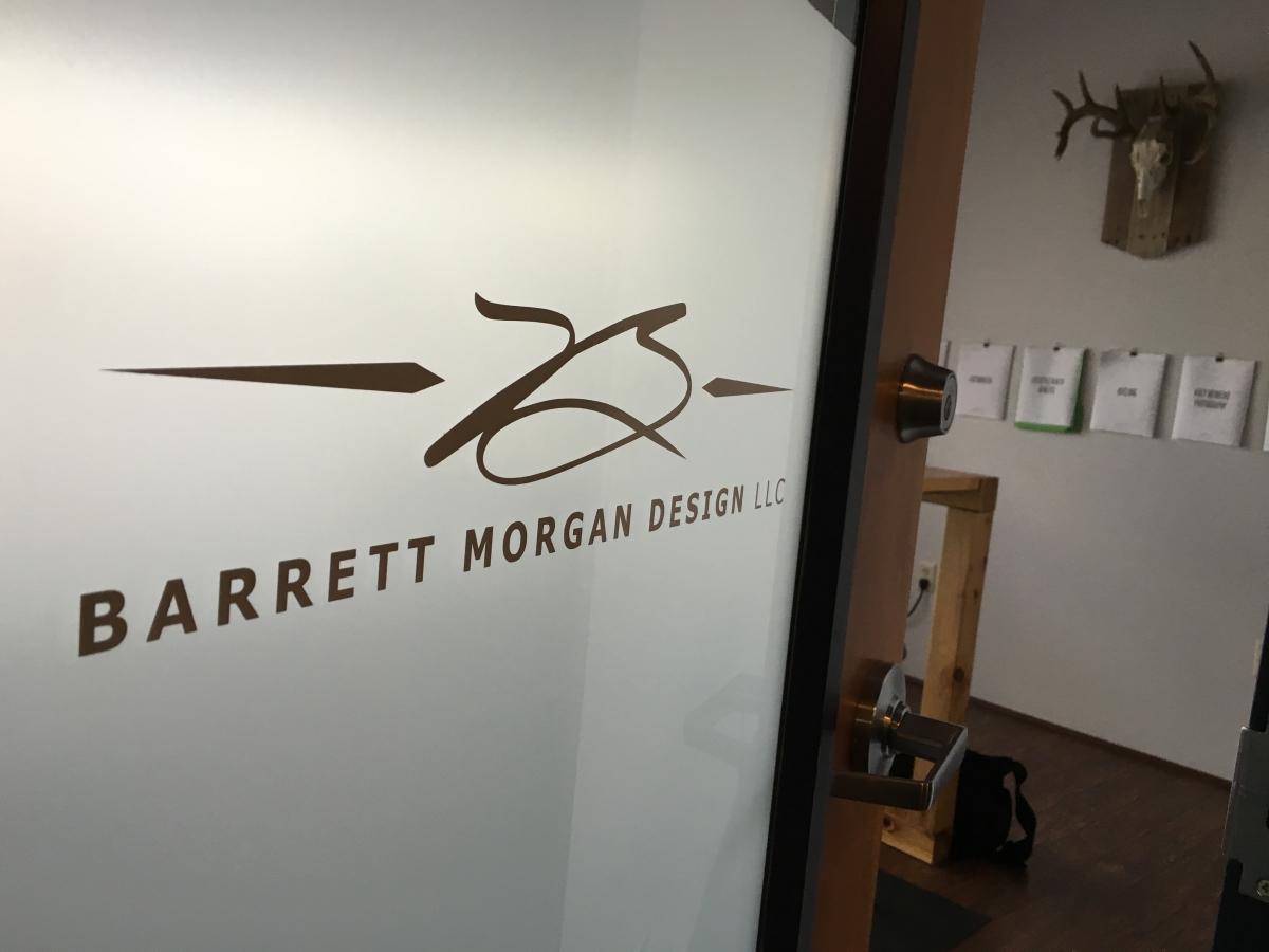Barrett Morgan Design Office door