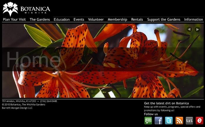 Botanica Wichita - Website Design Flash Homepage