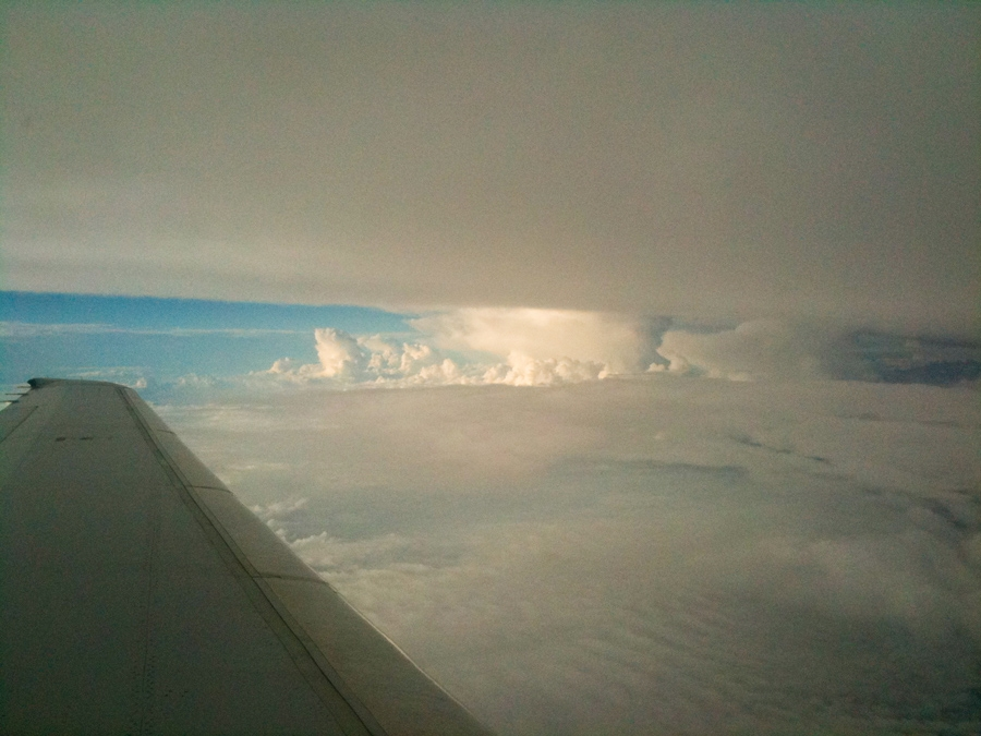 Flying into the storms