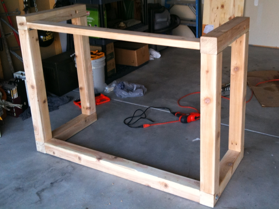 standing table construction