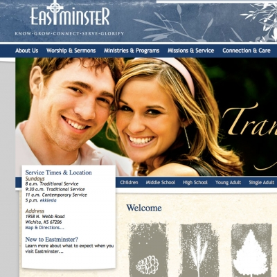 Eastminster Web Design by Barrett Morgan Design