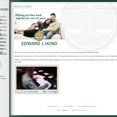 Edward J. Hund website design in Wichita