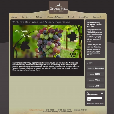 Grace Hill Winery Web Development - Barrett Morgan Design LLC