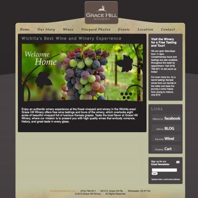 Grace Hill Winery Web Development - Barrett Morgan Design LLC