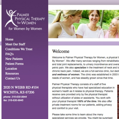 Palmer Physical Therapy Website Design