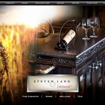 Steven Lang Millwork Website Design
