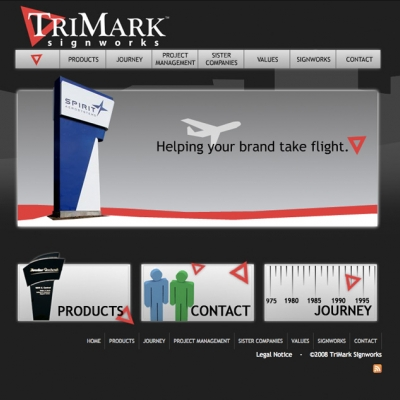 Trimark Signworks Web Design in Wichita Kansas